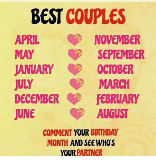 Best Couples April May November September January October March July