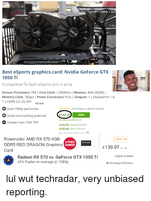 Best eSports Graphics Card Nvidia GeForce GTX 1050 Ti ?7