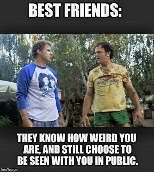 Best Friend, Friends, and Memes: BEST FRIENDS  THEY KNOW HOW WEIRD YOU  ARE, AND STILL CHOOSE TO  BE SEEN WITH YOU IN PUBLIC.  imgflip.com