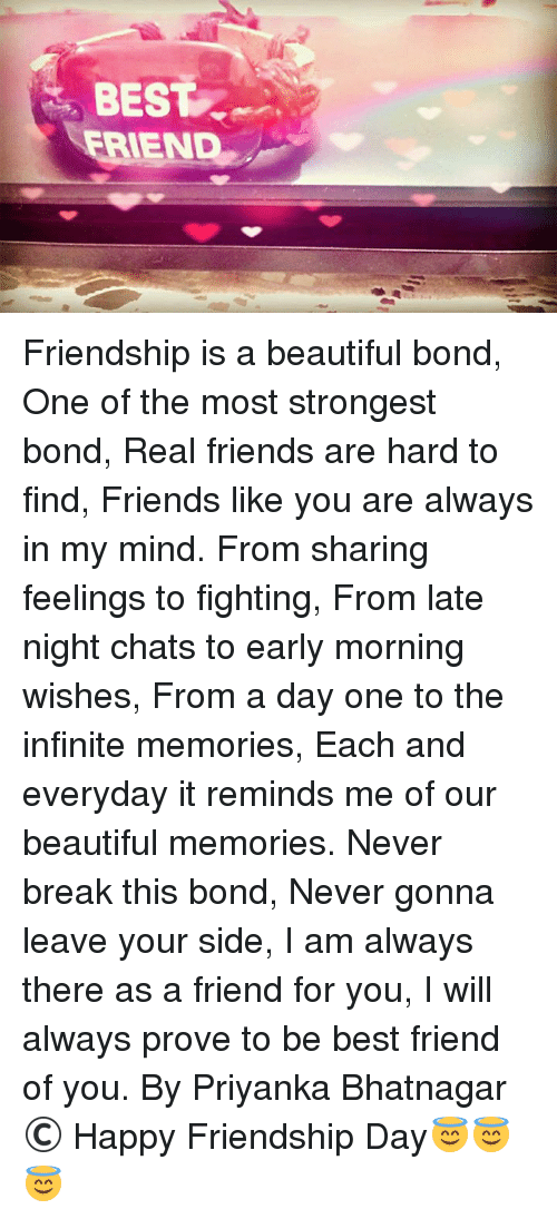 Best Friendship Is A Beautiful Bond One Of The Most Strongest Bond
