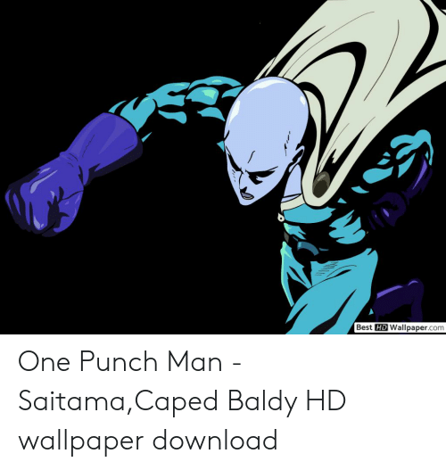 Best Hd Wallpapercom One Punch Man Saitamacaped Baldy Hd