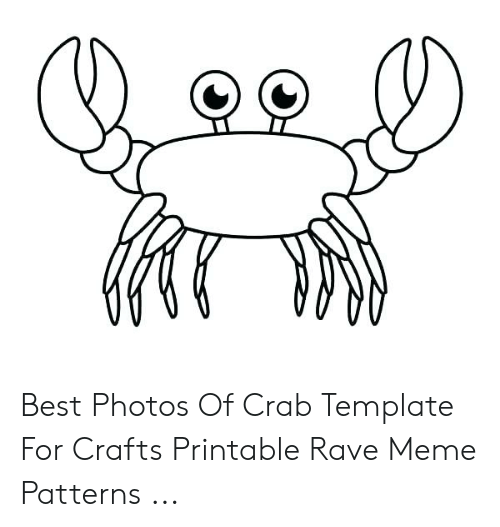 photograph relating to Crab Stencil Printable titled Easiest Shots of Crab Template for Crafts Printable Rave Meme