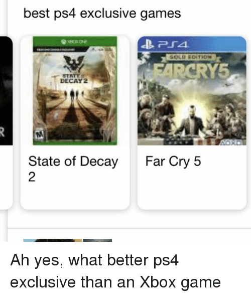 Best Ps4 Exclusive Games P54 Rcry5 Decay State Of Decay Far Cry 5