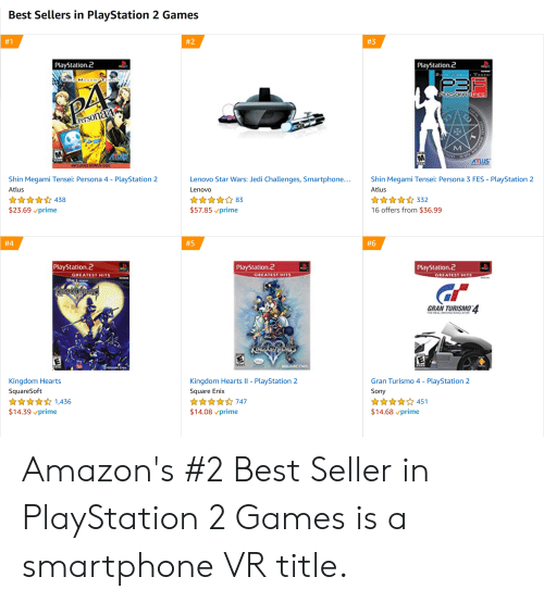 Best Sellers in PlayStation 2 Games #2 #1 #3 PlayStation 2