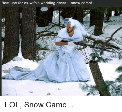 Exs Dress And Dresses Best Use For Ex Wifes Wedding Snow
