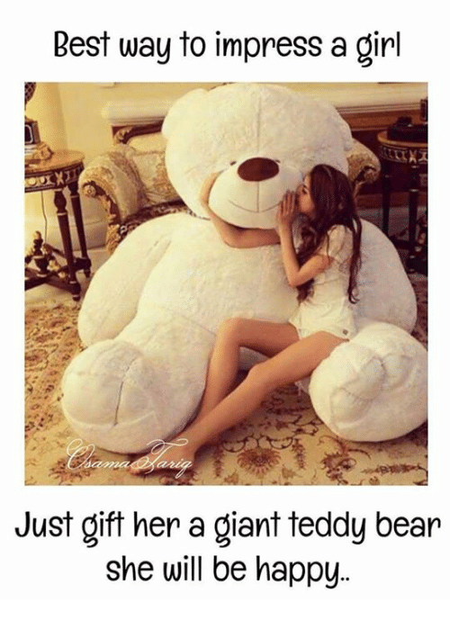 best way to impress a girl just gift her a 27417002 ✅ 25 best memes about teddy bear teddy bear memes