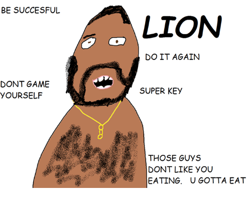 Besuccesful dont game yourself lion do it again super key those guys do it again game and games besuccesful dont game yourself lion do it solutioingenieria Gallery