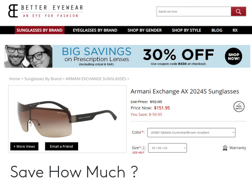 e948b1c5c Funny, Blog, and Email: BETTER EYEWEAR Search our store AN EYE FOR FASHIO