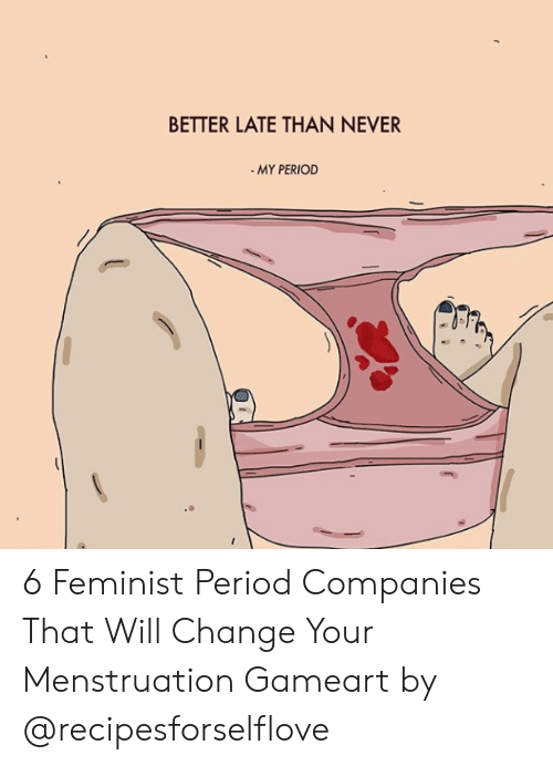 BETTER LATE THAN NEVER MY PERIOD 6 Feminist Period Companies
