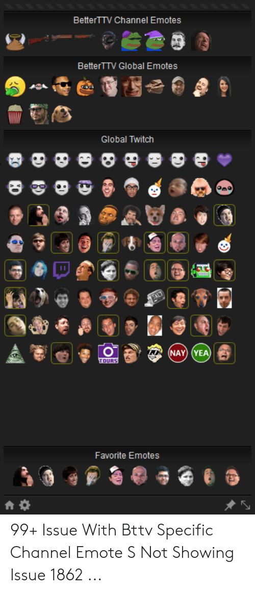 BetterTTV Channel Emotes BetterTTV Global Emotes Global
