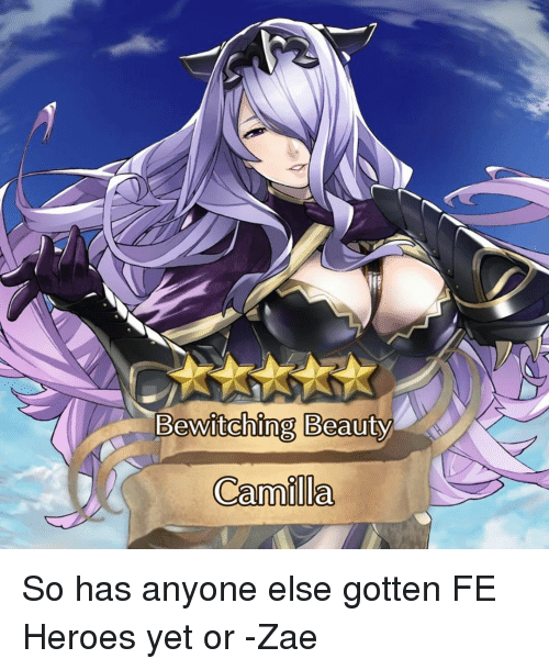 Bewitching beauty camilla so has anyone else gotten fe for Fe camilla