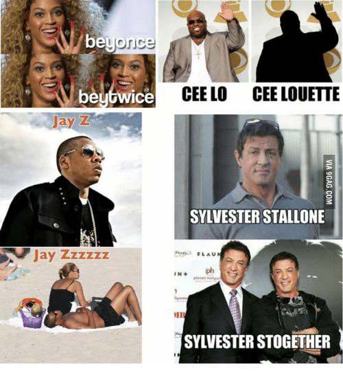 Jay Z, Asa, and Cee Lo: beyonce  ASA beytwice CEE LO CEE LOUETTE  Jay Z  SYLVESTER STALLONE  Jay zzzzzz  FLAU  IN  MIR  SYLVESTER STOGETHER