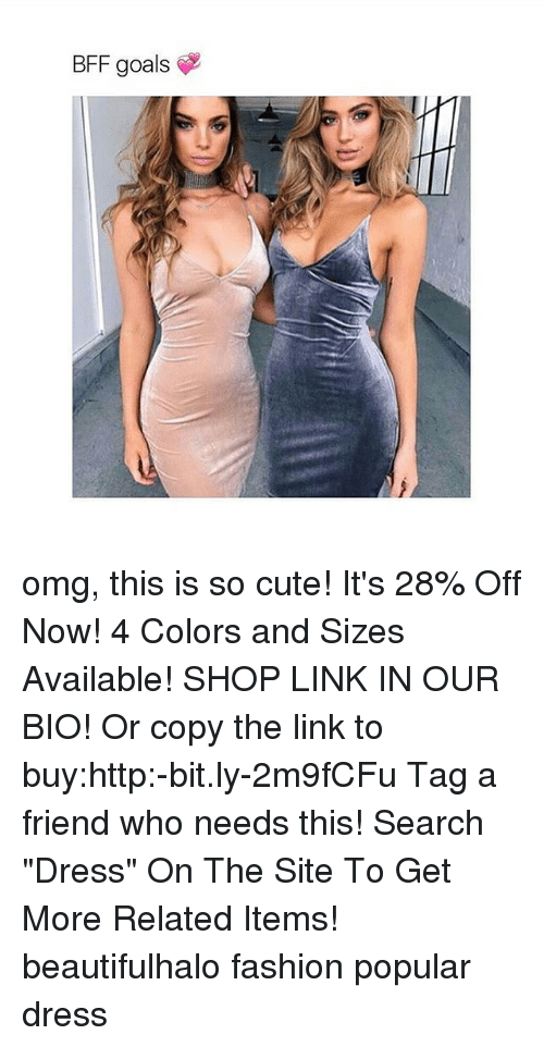 """Memes, 🤖, and The Link: BFF goals omg, this is so cute! It's 28% Off Now! 4 Colors and Sizes Available! SHOP LINK IN OUR BIO! Or copy the link to buy:http:-bit.ly-2m9fCFu Tag a friend who needs this! Search """"Dress"""" On The Site To Get More Related Items! beautifulhalo fashion popular dress"""