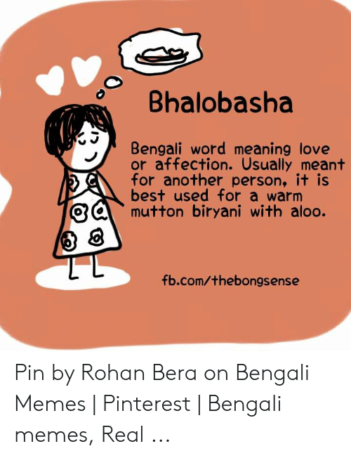 Bhalobasha Bengali Word Meaning Love or Affection Usually Meant for