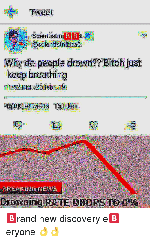 Bi B Why Do People Drown Bitchi Just Keep Breathing Drowning Rate