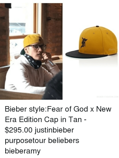 Bieber styleFear of God X New Era Edition Cap in Tan -  29500 ... 2895dc7c3a0