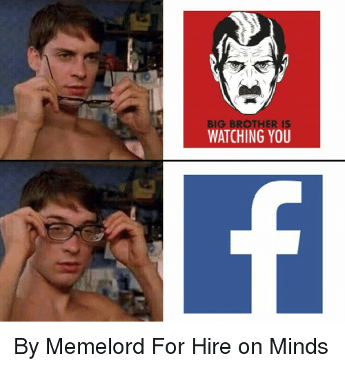 Big Brother Is Watching You By Memelord For Hire On Minds Meme On
