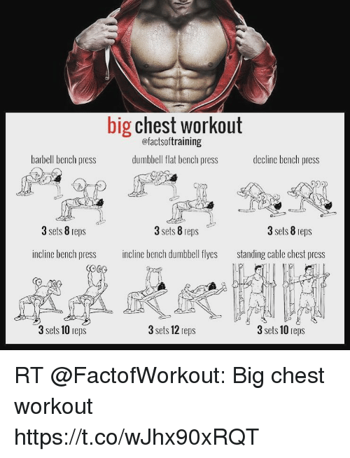 Memes Bench Pressed And Big Chest Workout Factsoftraining Dumbbell Flat