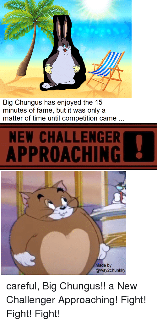 Big Chungus Has Enjoyed The 15 Minutes Of Fame But It Was Only A