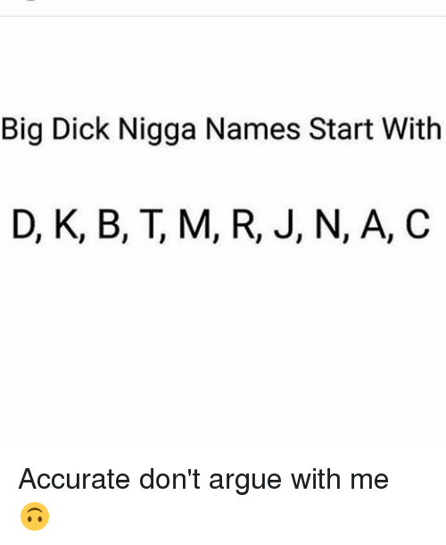 Names for a big dick