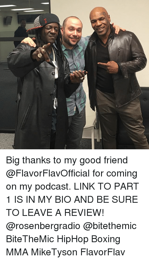 Boxing, Memes, and Good: Big thanks to my good friend @FlavorFlavOfficial for coming on my podcast. LINK TO PART 1 IS IN MY BIO AND BE SURE TO LEAVE A REVIEW! @rosenbergradio @bitethemic BiteTheMic HipHop Boxing MMA MikeTyson FlavorFlav
