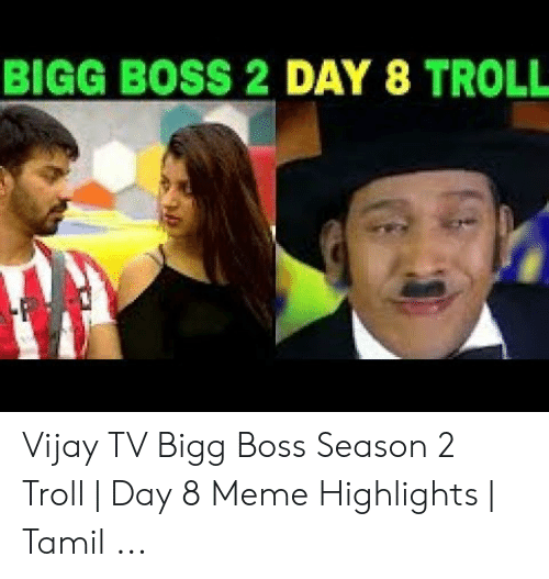 BIGG BOSS 2 DAY 8 TROLL Vijay TV Bigg Boss Season 2 Troll | Day 8
