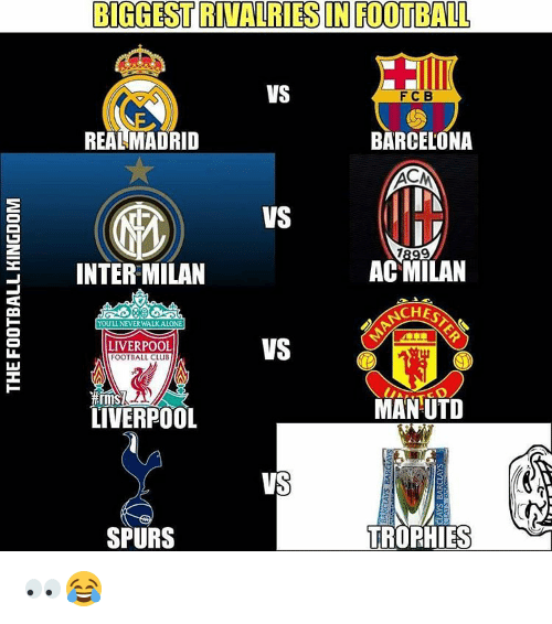 Barcelona Vs Real Madrid Or Liverpool Vs Manchester United: BIGGESTRITALARIES IN FOOTBALL VS F C B REAL MADRID