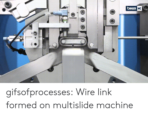 Target, Tumblr, and Blog: bIHLER  NC gifsofprocesses:  Wire link formed on multislide machine