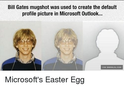 Funny Memes For Profile Pictures : Bill gates mugshot was used to create the default profile picture