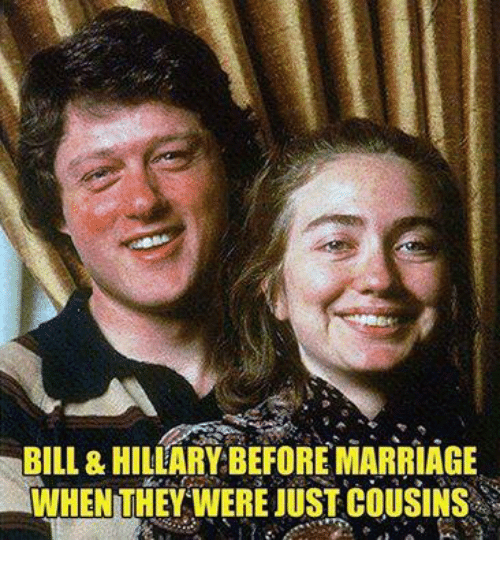 BILL& HILLARY BEFORE MARRIAGE WHEN THEY WERE JUST COUSINS