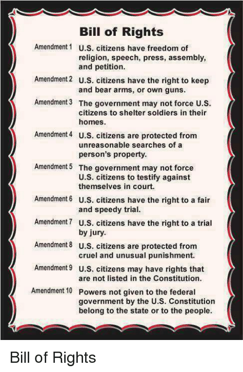 bill of rights amendment 1 us citizens have freedom of religion