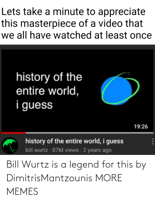 Dank, Memes, and Target: Bill Wurtz is a legend for this by DimitrisMantzounis MORE MEMES