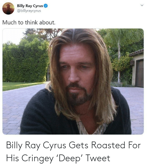Billy Ray, Billy Ray Cyrus, and Deep: Billy Ray Cyrus Gets Roasted For His Cringey 'Deep' Tweet