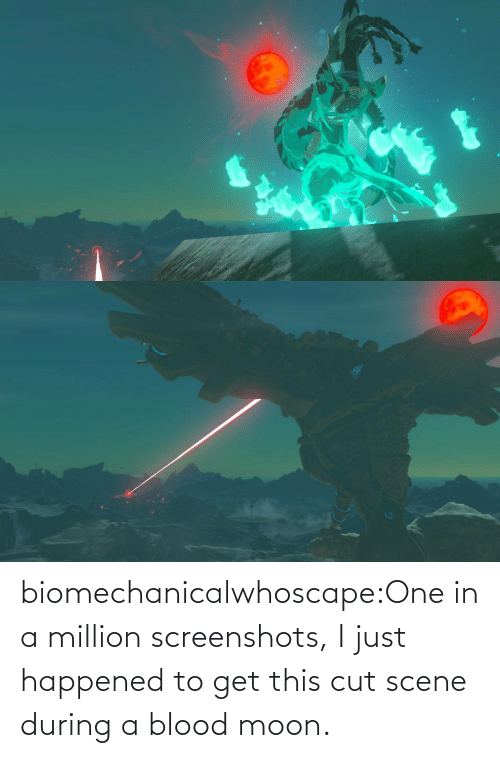 Blood Moon, Tumblr, and Blog: biomechanicalwhoscape:One in a million screenshots, I just happened to get this cut scene during a blood moon.