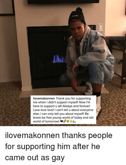 Birch Ilovemakonnen Thank You for Supporting Me When I Didn't