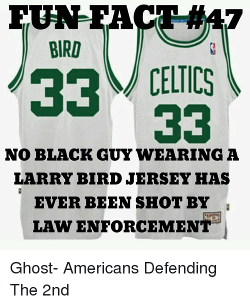 new arrival 93eb9 76449 BIRD 33 CELTICS 33 NO BLACK GUY WEARING a LARRY BIRD JERSEY ...