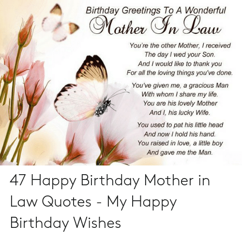 Birthday Greetings to a Wonderful You\'re the Other Mother I ...