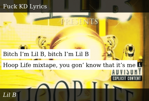 Bitch I'm Lil B Bitch I'm Lil B Hoop Life Mixtape You Gon