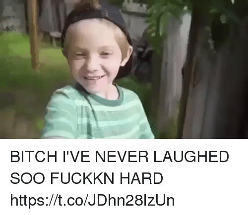 Bitch, Memes, and Never: BITCH I'VE NEVER LAUGHED SOO FUCKKN HARD https://t.co/JDhn28lzUn