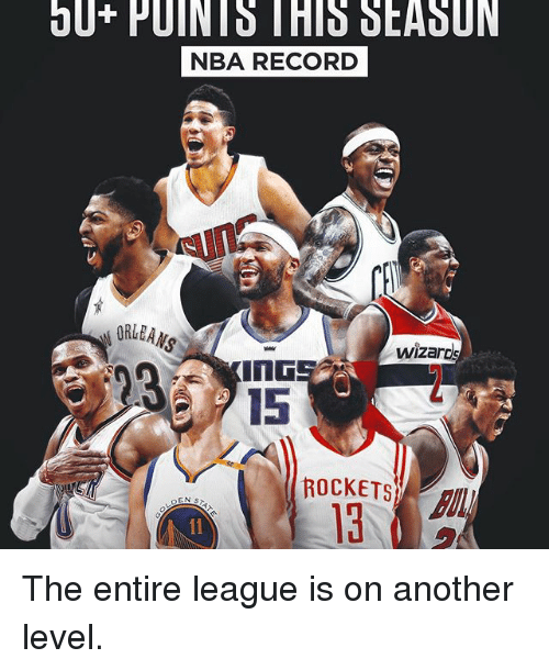 Sports, Nba Records, and Level: bl  PU NIS THIS SEADUN  NBA RECORD  wizards  ROCKETS The entire league is on another level.