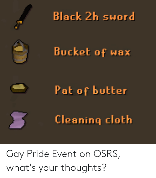 Black 2h Sword Bucket of Wax Pat of Butter Cleaning Cloth