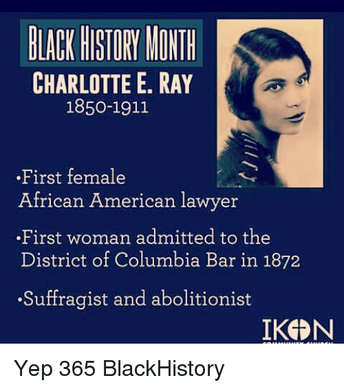 black history month charlotte e ray 1850