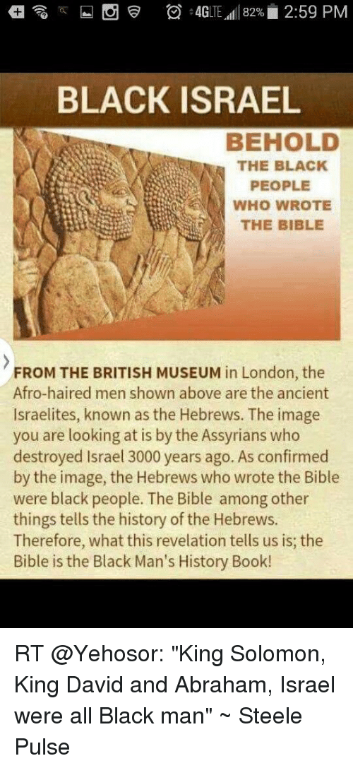 BLACK ISRAEL BEHOLD THE BLACK PEOPLE WHO WROTE THE BIBLE