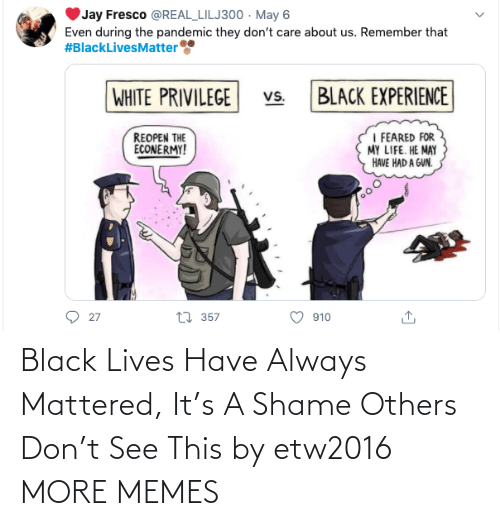 Dank, Memes, and Target: Black Lives Have Always Mattered, It's A Shame Others Don't See This by etw2016 MORE MEMES