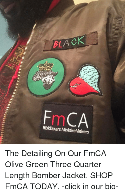 8e57948c8dc24 BLACK RiskTakersMistakeMakers the Detailing on Our FmCA Olive Green ...
