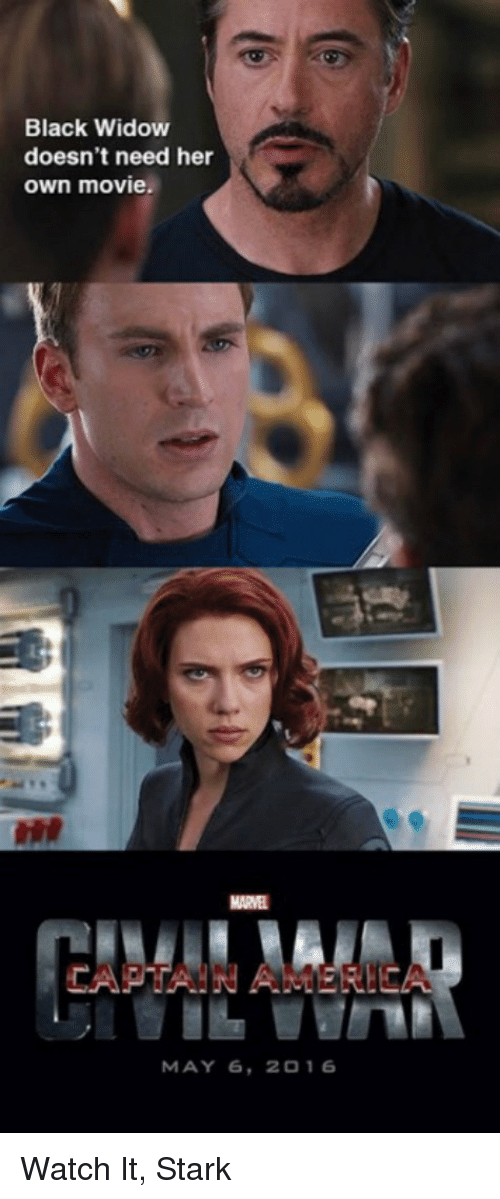 Black Widow Doesn T Need Her Own Movie Marvel Captain