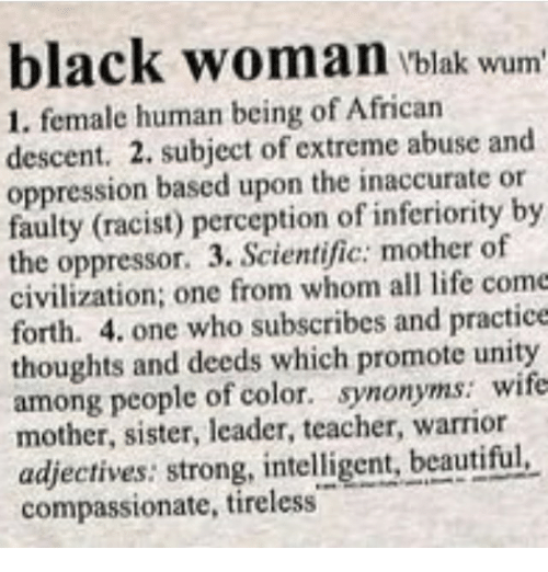 Black Woman Black Wum 1 Female Human Being of African