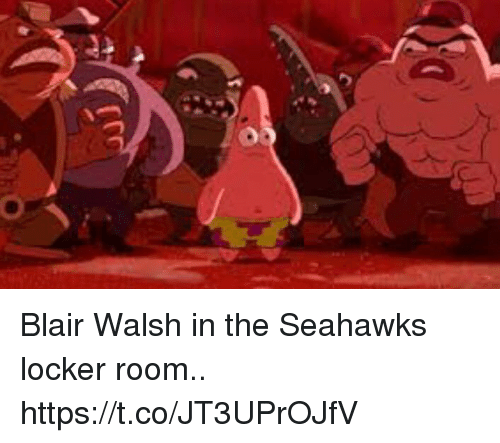 Blair Walsh, Football, and Nfl: Blair Walsh in the Seahawks locker room.. https://t.co/JT3UPrOJfV