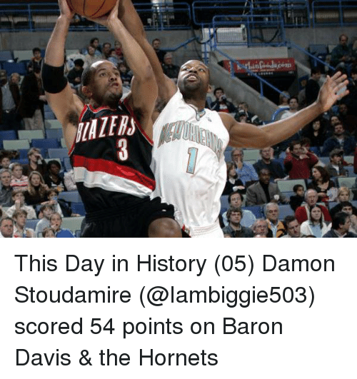 BLAZER  This Day in History 05 Damon Stoudamire Scored 54 Points on ... 0c48d6b3e