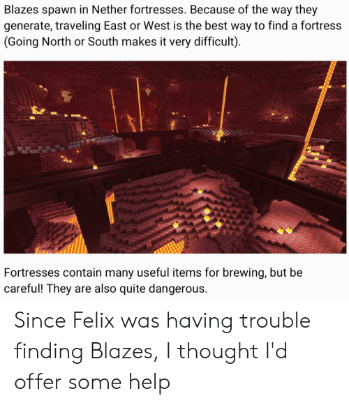 Blazes Spawn in Nether Fortresses Because of the Way They